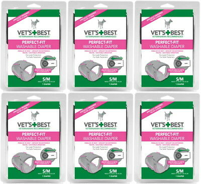 Vet's Best Perfect-Fit Washable Female Diaper SM / MED 6pk