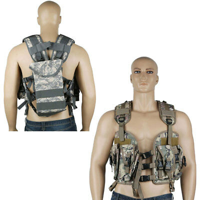 Army Tactical Combat Assault Military Combat Vest Webbing Adjustable Airsoft Au