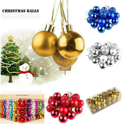 40//60//80mm Christmas Xmas Tree Ball Bauble Hanging Party Ornament Decoration Nic