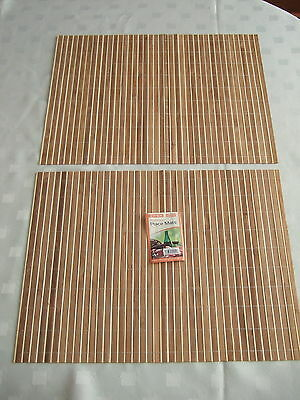 Bamboo Placemats - Pack Of 2 Roll Up Placemat/ Dining Table Mat Mats 40 X 30 Cms