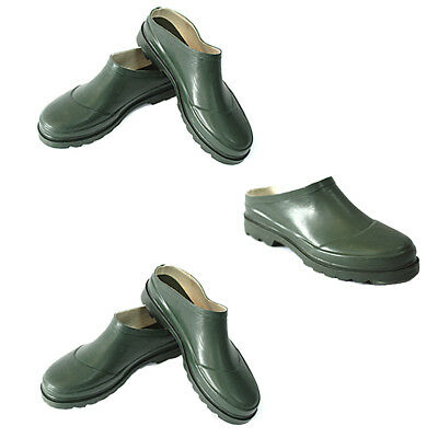 Slip-On Gardening Shoes - Waterproof Ankle Wellie - Traditional Green - Size 4