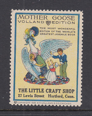 Mother Goose - A Stamp Advertising The 'volland' Edition Of The Book -Cinderella