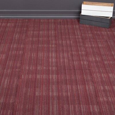 Heavy Duty Tessera Quality Office Carpet Tiles - Light Pattern - Red - 4m2