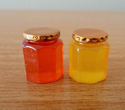 Dolls House Miniature 12Th Scale * Jam + Marmalade Jars * Combined P+P New