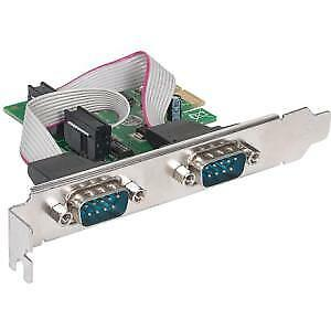NEW! Manhattan 152082 Serial Adapter Low-Profile Plug-In Card Pci Express X1 Pc