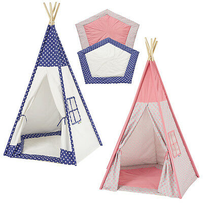 tipi kinderzelt spielzelt tippi indianer indianerzelt kinderzimmer wigwam zelt eur 44 85. Black Bedroom Furniture Sets. Home Design Ideas