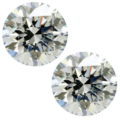 0.86 ct 2pc vvs1/4.85mm NEXT TO WHITE COLOR ROUND CUT LOOSE REAL MOISSANITE
