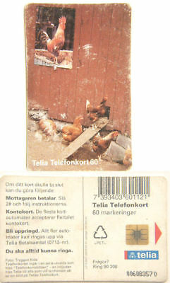 Sweden Phone Card - Chickens