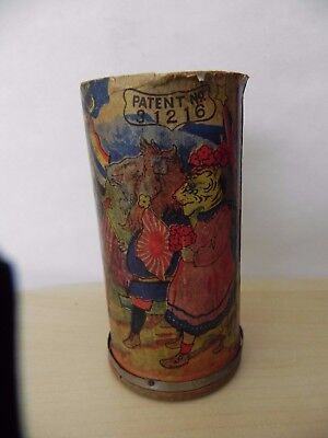 Antique 19th Century card / wood tube Musical Toy Pat no 31216 Political theme?