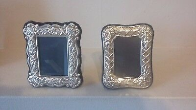 Two ( 2 ) Beautiful Detailed Quality R Carr  Hallmarked Silver Photo Frames