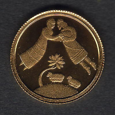 Israel. 2004 Gold Sheqel.. Jacob & Rachel.  1.224gms  .9999 gold.. Proof