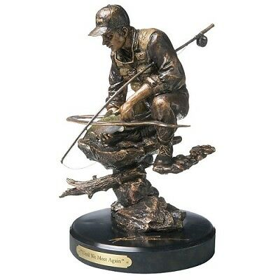 Marc Pierce Until We Meet Again Fly-Fishing Bronze Sculpture by Big Sky Carvers