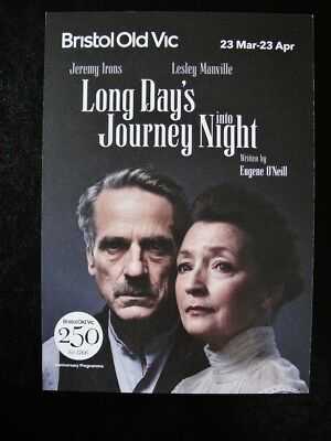 Jeremy Irons Flyer- Long Day's Journey Into Night - Bristol Old Vic Theatre 2015