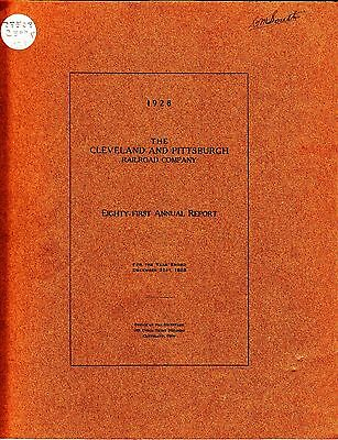 The Cleveland and Pittsburgh Railroad Company 81st Annual Report 1928