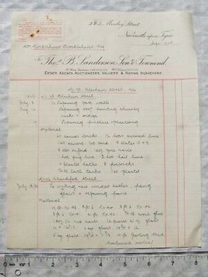 1929 invoice Thos. B. Sanderson Son & Townend, Newcastle upon Tyne