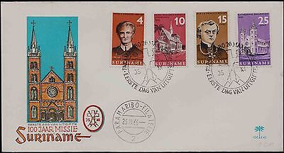 Suriname 1966 4 Values Church Issue On Cover
