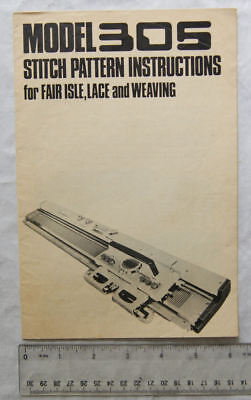 Vintage: Knitmaster Model 305 instructions for fair isle, lace & weaving
