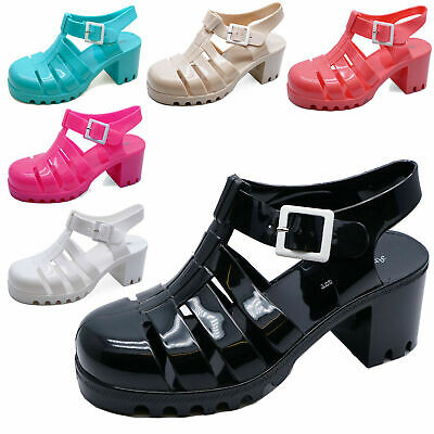 0ca3ec24353a69 Ladies Jelly Gladiator Retro Sandals Festival Beach Holiday Shoes Pumps Uk  3-8
