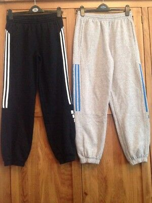 Boys Adidas Tracksuit Bottoms X2 Aged 13/14 Years