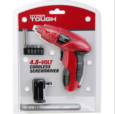 Power 4.8V Cordless Electric Screwdriver with Charger and Bit Set - Free Towel