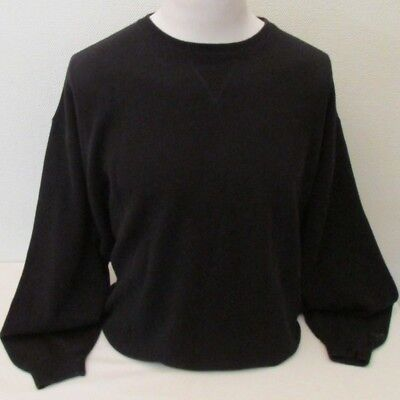 Greg Norman Golf Men's Black Cotton Crew Neck Golf Jumper - Size XL / XXL