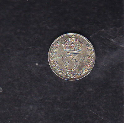 1911 Great Britain Silver 3 Pence