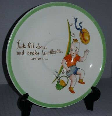 Midwinter Jack & Jill Nursery Rhyme saucer Peggy Gibbons Kiddie Ware England
