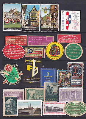 Poster Stamps, A Collection Of 24 German Labels