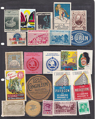Poster Stamps, A Collection Of 23 Various Countries Labels