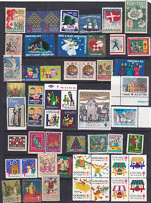 Poster Stamps, A Collection Of 52 Christmas Labels