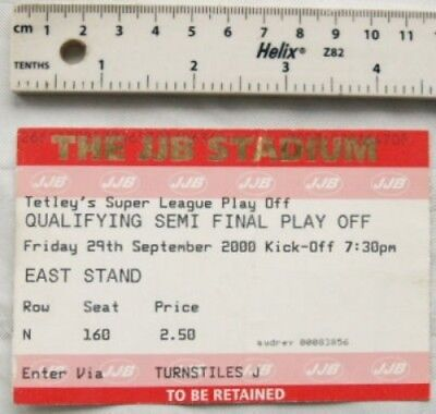 2000 ticket Tetley's Super League Semi Final Play Off