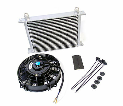 25 Row Alloy Aluminium Oil Cooler AN-10 track kit project race car with Fan