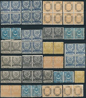 Turkey , Ottoman Unchecked Um/nh Lot Of Different Values With Shades #e44