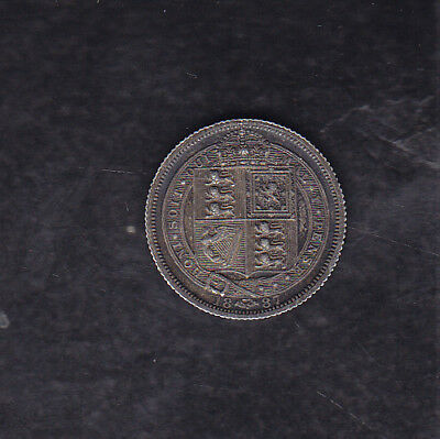 1887 Great Britain Silver 6 Pence
