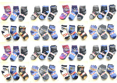 Boys Girls Childrens Kids Character Socks Cotton 6 Pairs Pack Assorted *Choose*