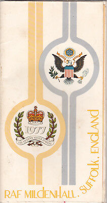 Military, Programme, R.a.f. Mildenhall, Air Show, Queen's Silver Jubilee, 1977