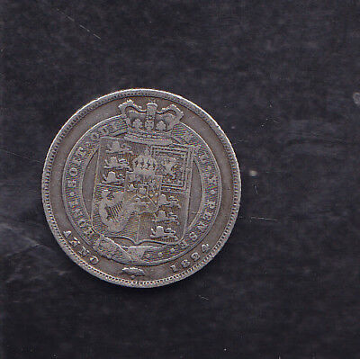 1824 Great Britain Silver Shilling