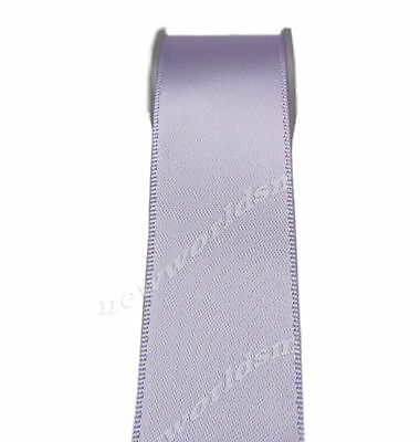 """4y 57mm 2 1/4"""" Lt orchid Double Faced Premium Wide Heavy Satin Ribbon FREE PP"""