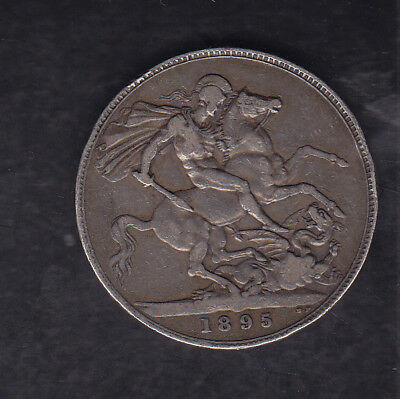 1895 Lix Great Britain Silver Crown