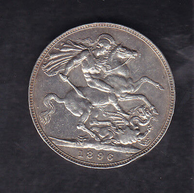1896 Lix Great Britain Silver Crown