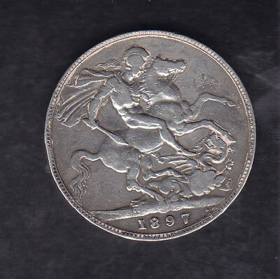 1897 Lxi Great Britain Silver Crown