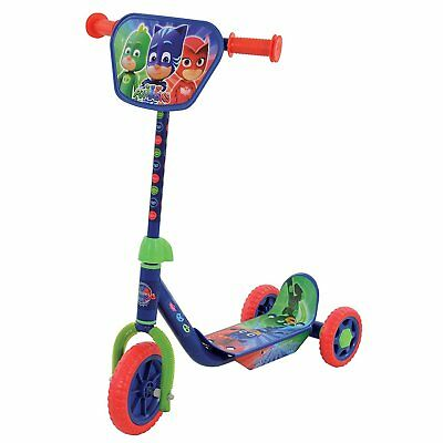 PJ Masks Kids Push Kick Tri Scooter Adjustable Bar Height Outdoor Ride On Toy