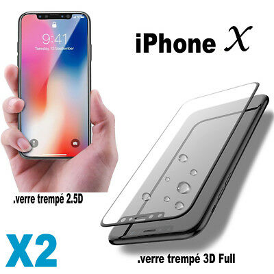 Vitre Verre Trempé iPhone 10 X   Protection Film Protège Tempered Glass