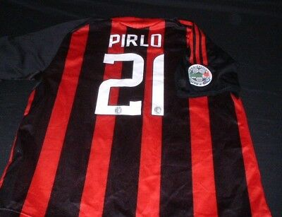 AC Milan Italy Italia Serie A Soccer Football Large Mans Pirlo No21 Home Jersey
