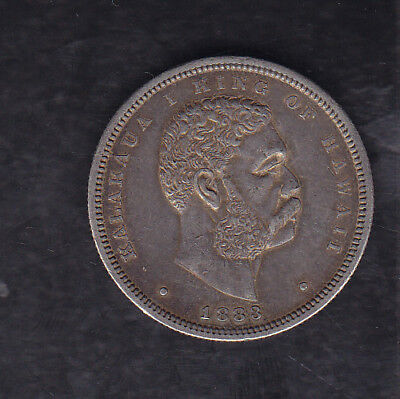 1883 Hawaii Silver Half Dollar