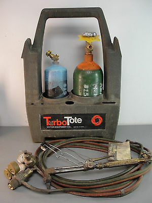 VICTOR FIREPOWER PORTABLE TURBO TOTE CUTTING TORCH KIT w/OXYGEN ACETYLENE TANK