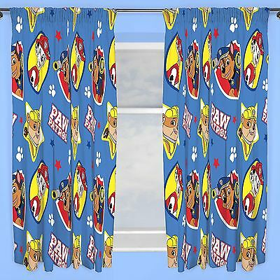 "Official Paw Patrol Pawsome Curtains 66"" X 72"" Kids Bedroom Official Free P+P"