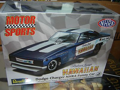 Revell Monogram Roland Leong's 'Hawaiian' Dodge Charger Funny Car model kit 1/25