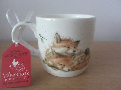 Royal Worcester Wrendale The Night Before Christmas China Mug - New With Label