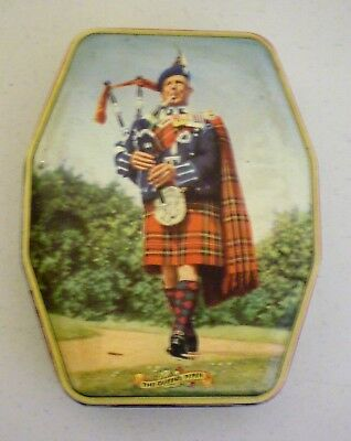 Vintage Horner Candy Tin With Bagpiper The Queens Piper